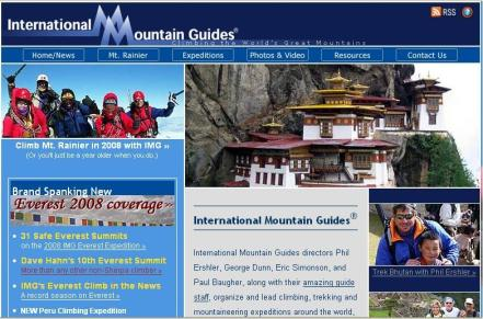 International Mountain Guides   one of the best mountaineering agency.