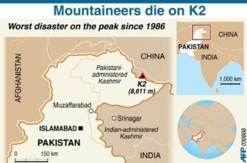 K2 Mountain Map K2 On Map