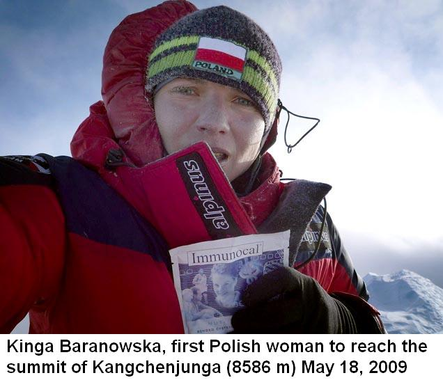 Kinga Baranowska, first Polish woman to reach the summit of Kangchenjunga – photo gallery.