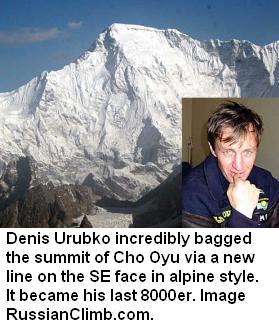 Denis Urubko cho oyu New