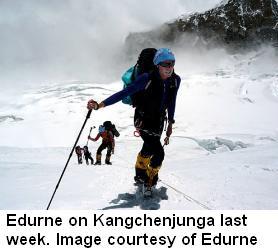 kangch Edurne on Kangchenjunga New