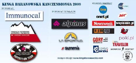 Kangch Expedition 2009 sponsor