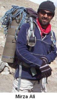 Mirza Ali climber New