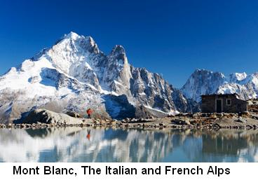 Mont Blanc, The Italian and French Alps New