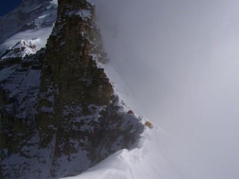 Obóz I na Przełęczy Longstaffa (5910 m)