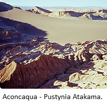 Aconcaqua Pustynia Atakama New