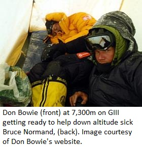 Don Bowie at 7,300m on GIII