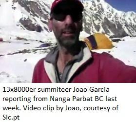 Joao Garcia summited Nanga Parbat