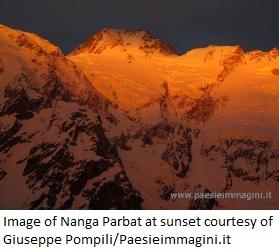 Nanga Parbat at sunset