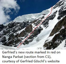 Nanga Parbatnew route fromc1