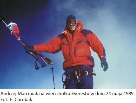Andrzej Marciniak na wierzchoA�ku Everestu