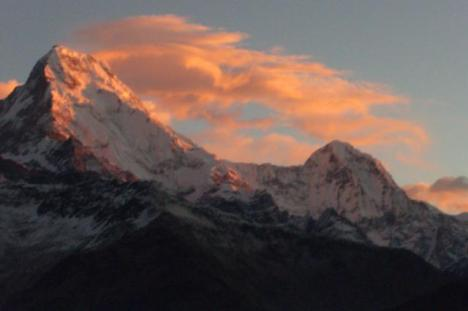 Annapurna south from Poon-hill