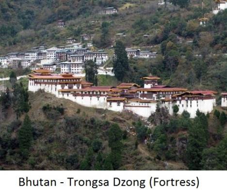 Trongsa dzong fortress in bhutan1a