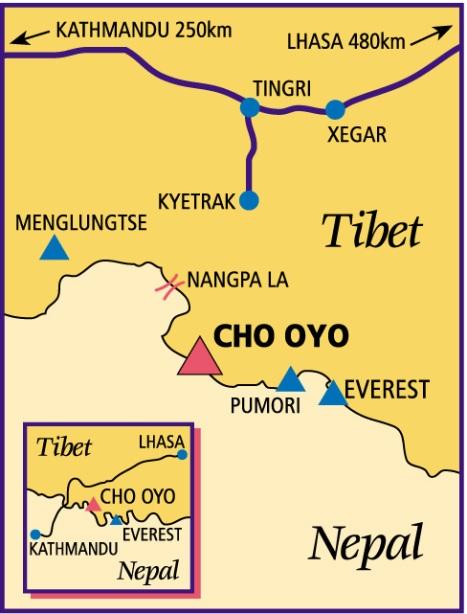 map Cho Oyu