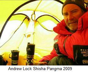 Andrew Lock Shisha Pangma 2009