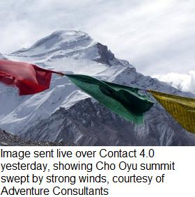 Cho Oyu summit - strong winds