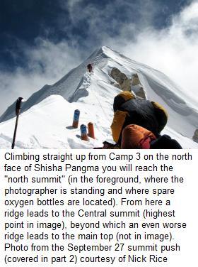 Shisha Pangma central from camp3