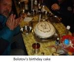 Bolotov's birthday cake