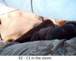 k2camp C1 in the storm