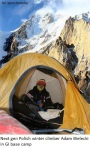Next gen Polish winter climber Adam Bielecki in GI base camp