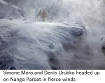 Simone Moro and Denis Urubko headed up on Nanga Parbat in fierce winds